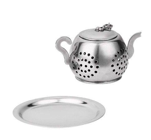 Infusor de Chá em formato de Chaleira 4x3 cm  - Super Utilidades