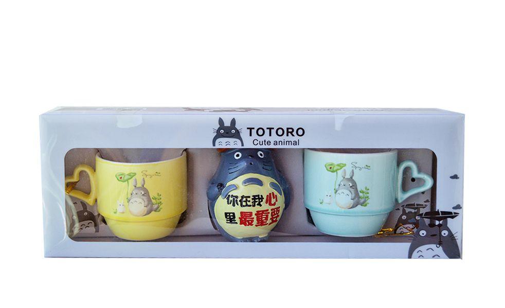 Jogo De Xícara Totoro Anime Manga  - Super Utilidades
