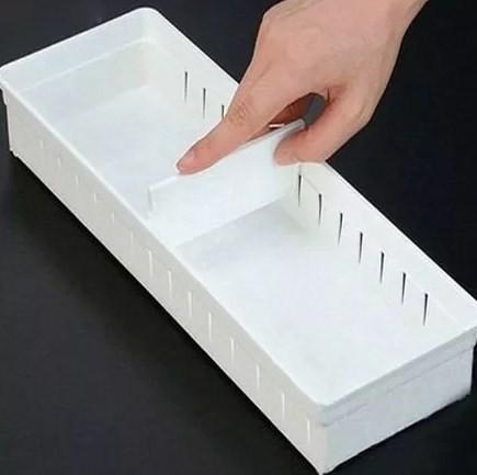 Kit 3 Portas objetos com divisória ajustável gaveta INO-0073  - Super Utilidades