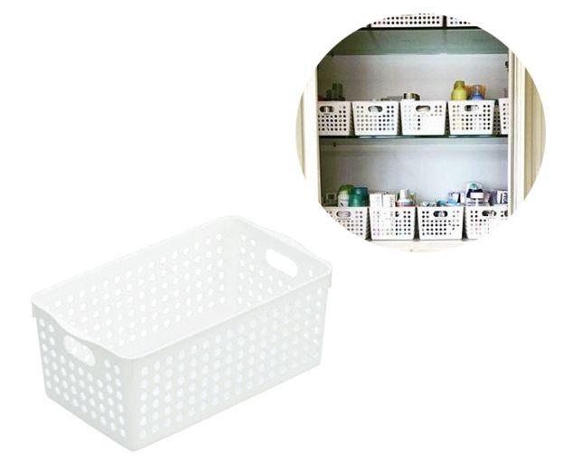 Kit 4 Cestas Organizadoras INO-4571   16,6 X 29,3 X 11,5cm INOMATA    - Super Utilidades