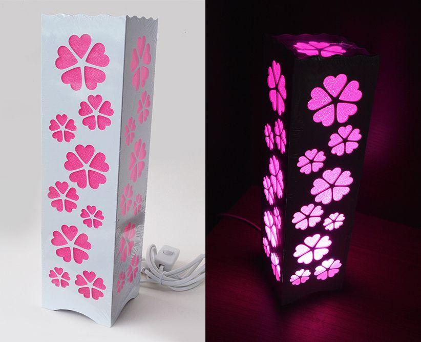 Luminária Abajur Flor de Cerejeira Sakura p/ Sala Quarto Dormitório   - Super Utilidades