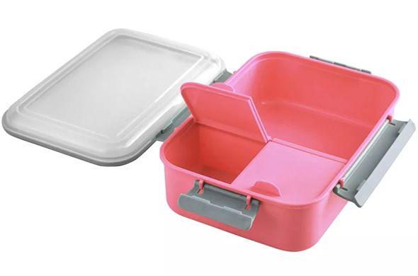Marmita com 3 compartimentos Rosa 1,20 litros   - Super Utilidades