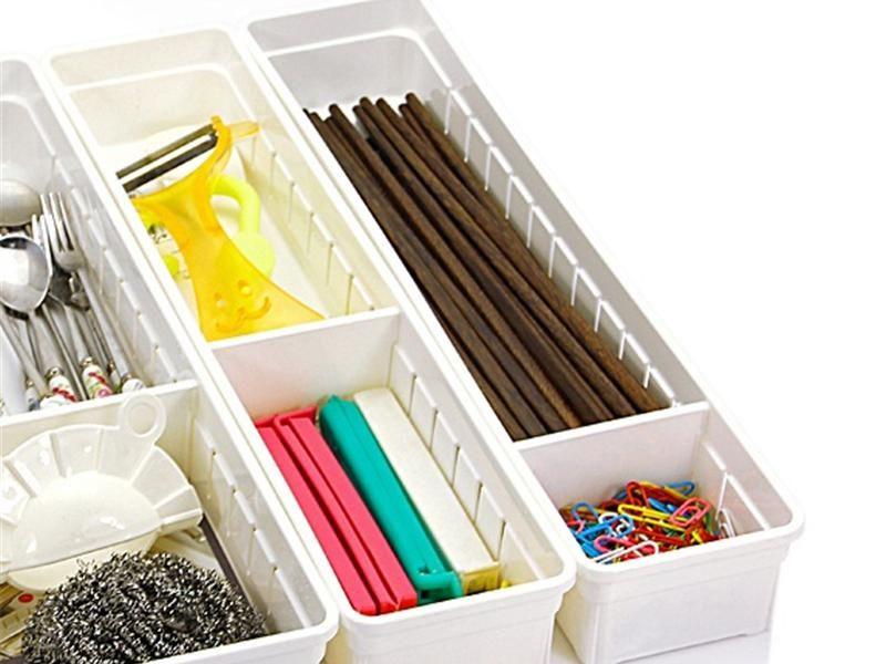 Organizador com divisórias para gaveta de cozinha escritório INO-0072  - Super Utilidades