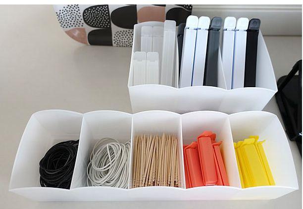 Organizador de Gaveta Calcinha Meia 5 divisórias - 27,1 x 82 x 6,9 cm   - Super Utilidades