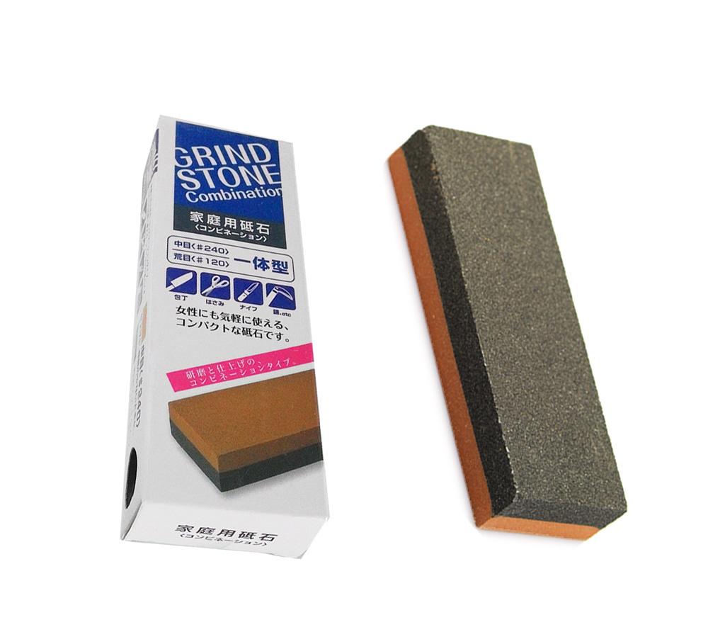 Pedra Afiar Amolar Faca Grind Stone Double Face #240 E 120  - Super Utilidades