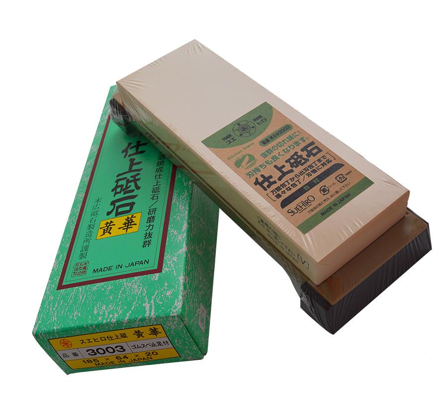 Pedra de Amolar SUE-3003 Granulação 3000 Suehiro para uso Profissional  - Super Utilidades