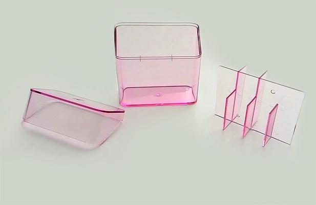 Porta Objeto com ventosa Rosa 4.4x 8.9 x 9cm  - Super Utilidades