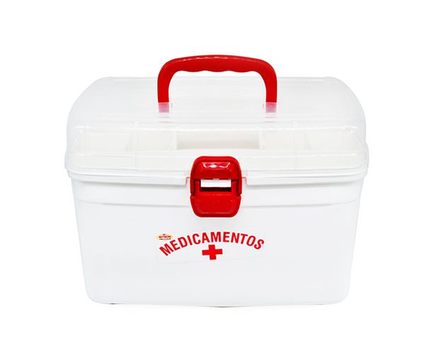 Maleta Primeiros Socorros Porta Remedios Medicamentos Grande  - Super Utilidades