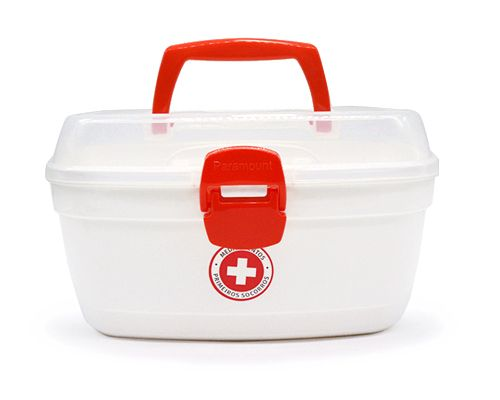Porta Remédio com alça Maleta Primeiros Socorros 23 x 14 x 13 cm  - Super Utilidades