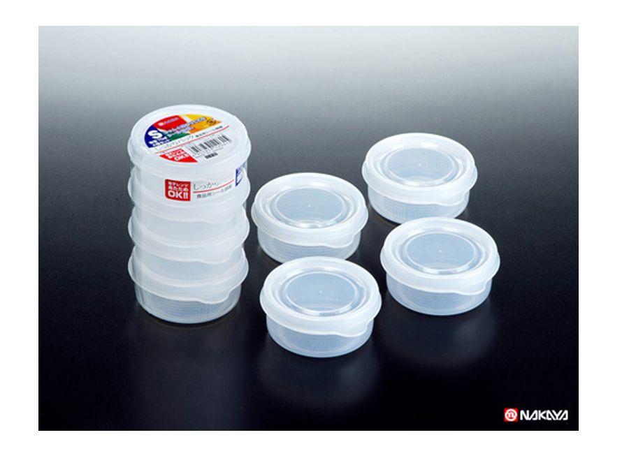 Pote Plástico 4 Unid. 70ml Pequeno Mod.s K-203 Nakaya  - Super Utilidades