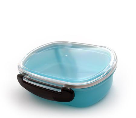 Pote Hermético marmita com trava lateral Azul 480 ml YA-875B  - Super Utilidades