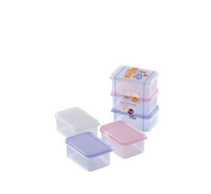 Mini Pote Plástico kit 3 pcs 320ml YA-548 pequenas porções  - Super Utilidades