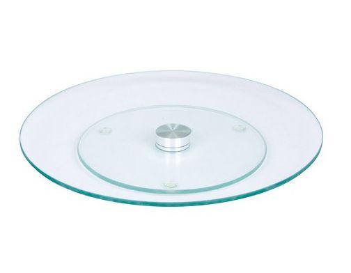 Prato Grande Giratório 30cm de Vidro 360 graus  - Super Utilidades