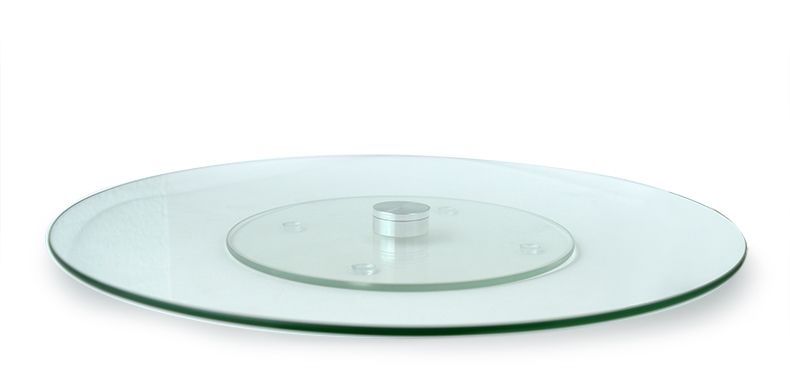 Prato Grande Giratório 34cm de Vidro 360 graus  - Super Utilidades