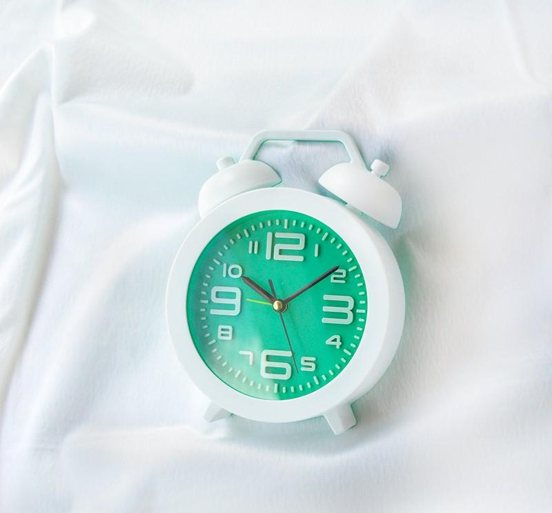 Relógio Despertador Fashion Verde Clean  - Super Utilidades