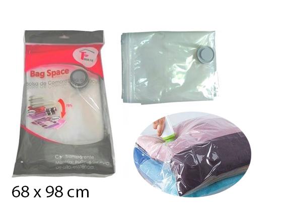 Saco à vácuo organizador para roupas corbertores 68x98cm  SM-C1  - Super Utilidades