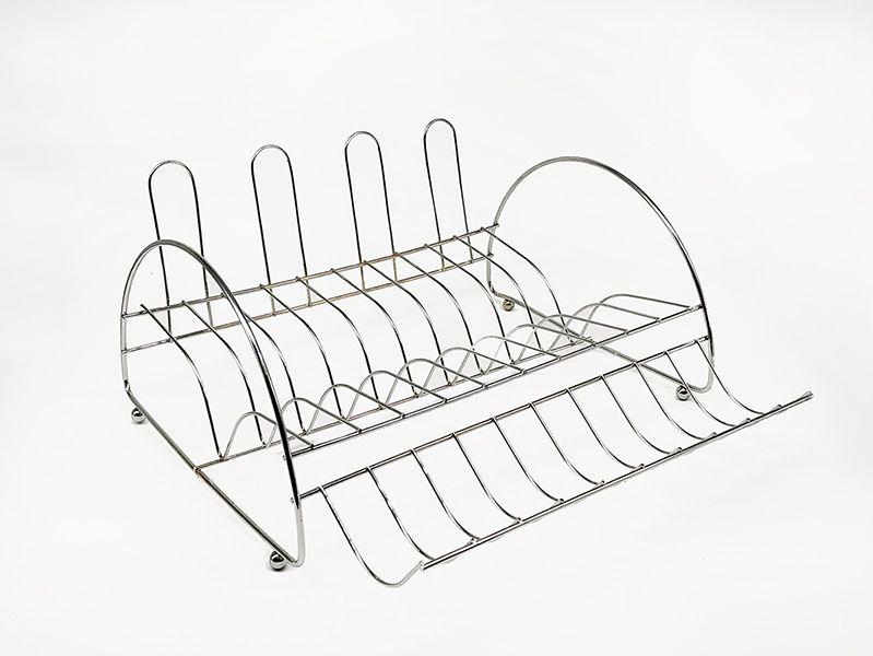 Secador Escorredor de Pratos - 10 pratos 4 copos e Porta Talher  - Super Utilidades