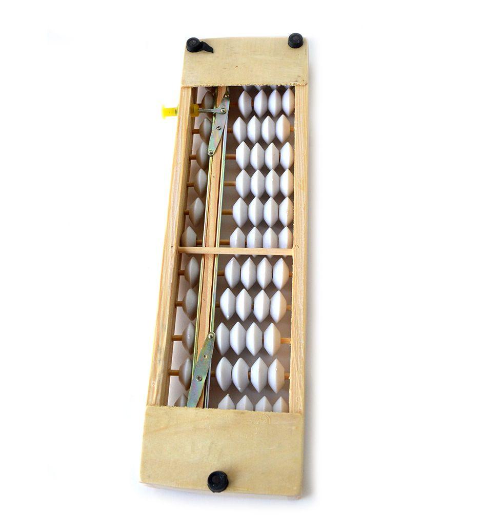 soroban madeira bolinha branca 13 colunas  - Super Utilidades