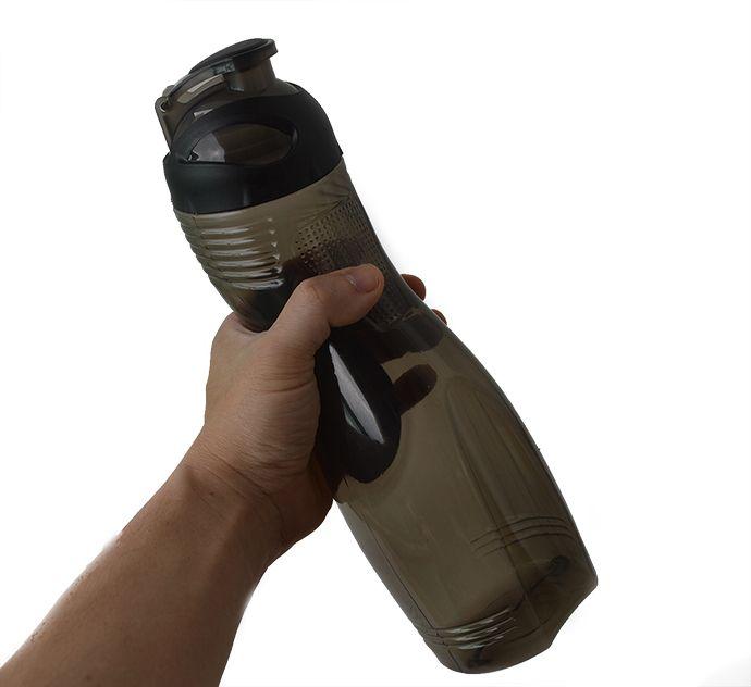 Squeeze garrafa de Plástico  860ml anatômico Preto  - Super Utilidades
