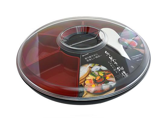 Travessa Bandeja japonesa para sushi e temaki com divisórias e Pá  INO-1075  - Super Utilidades