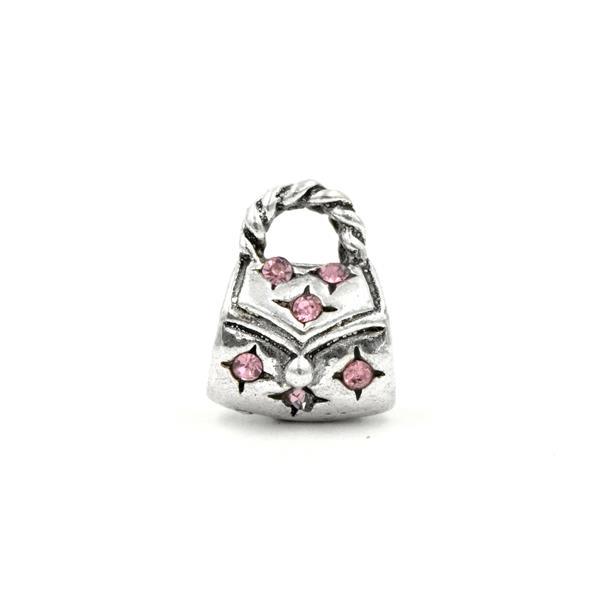Berloque Charm Pandora Inspired Bolsa Pink
