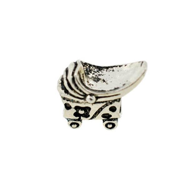 Berloque Charm Pandora Inspired Carrinho de Bebê Médio