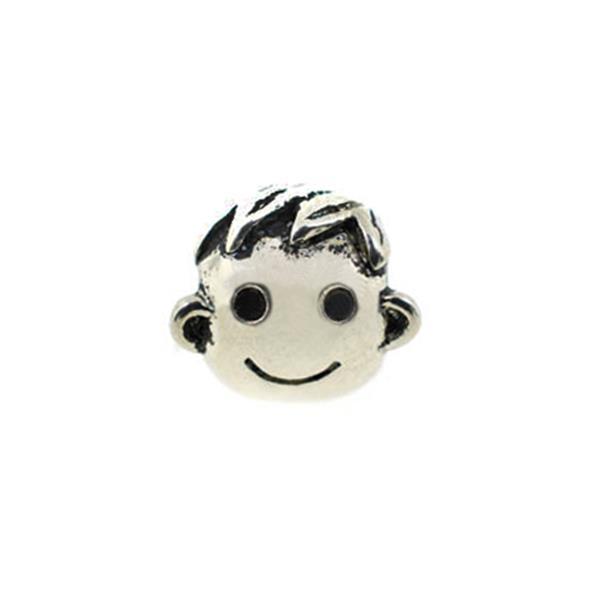 Berloque Charm Pandora Inspired Face Boy