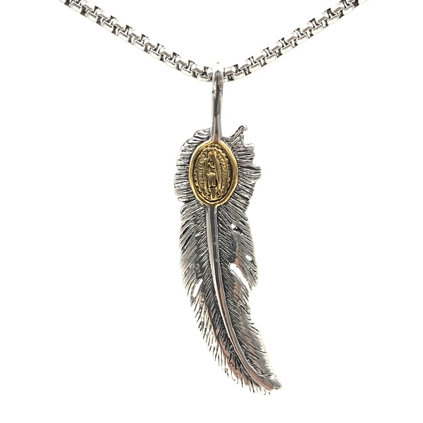 Colar Feather Metal