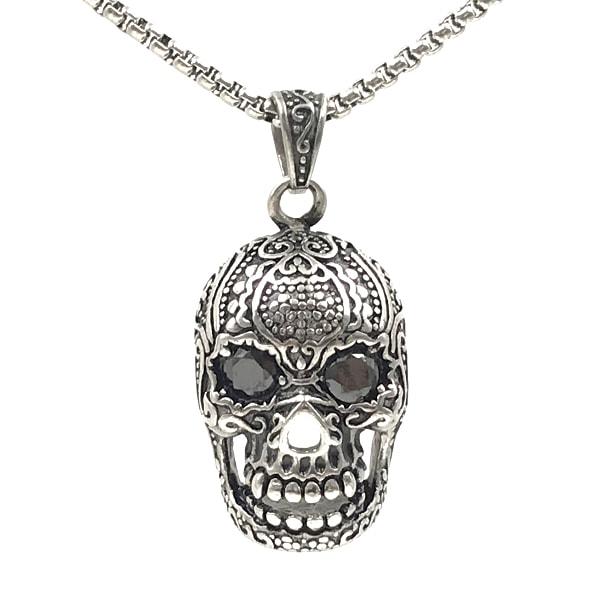 Colar Mexican Skull Metal