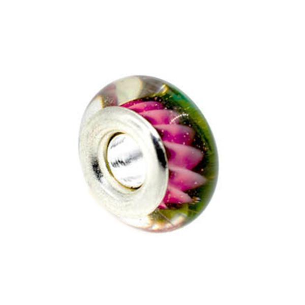 Murano Pandora Inspired Pink Spiral