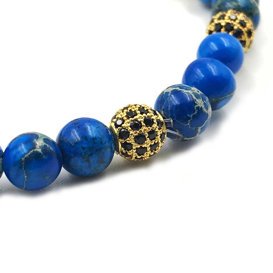 Pulseira Double Blue Stone