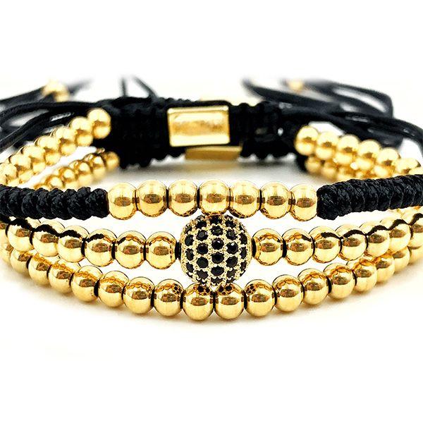 Pulseira Kit Macrame Gold