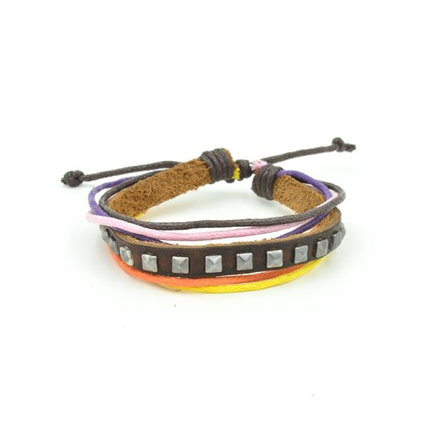 Pulseira Leather Multi Color