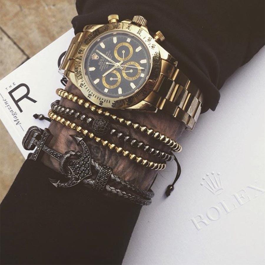 Pulseira Masculina Luxury Black