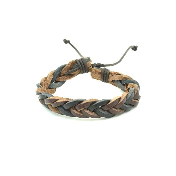 Pulseira Masculina Rustic Black end Brown