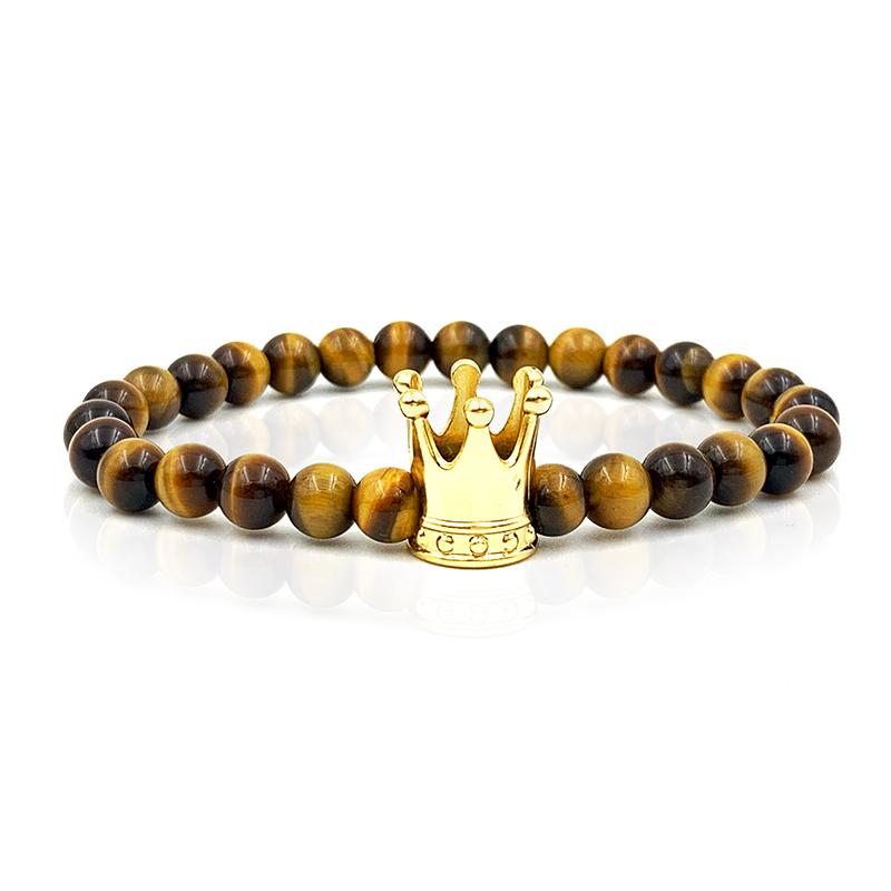 Pulseira Pedras Tiger Crown