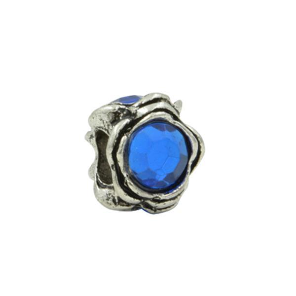 Separador Pandora Inspired  Coração de Mãe Azul
