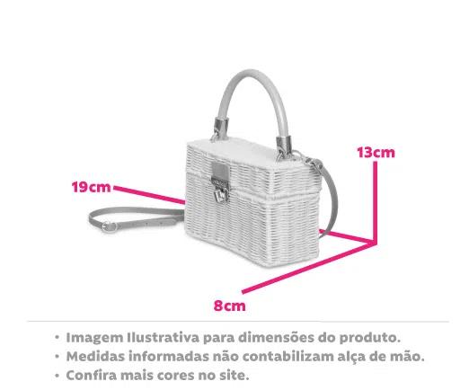Bolsa Box Palha Capri Petite Jolie PJ10048 Original - Záten