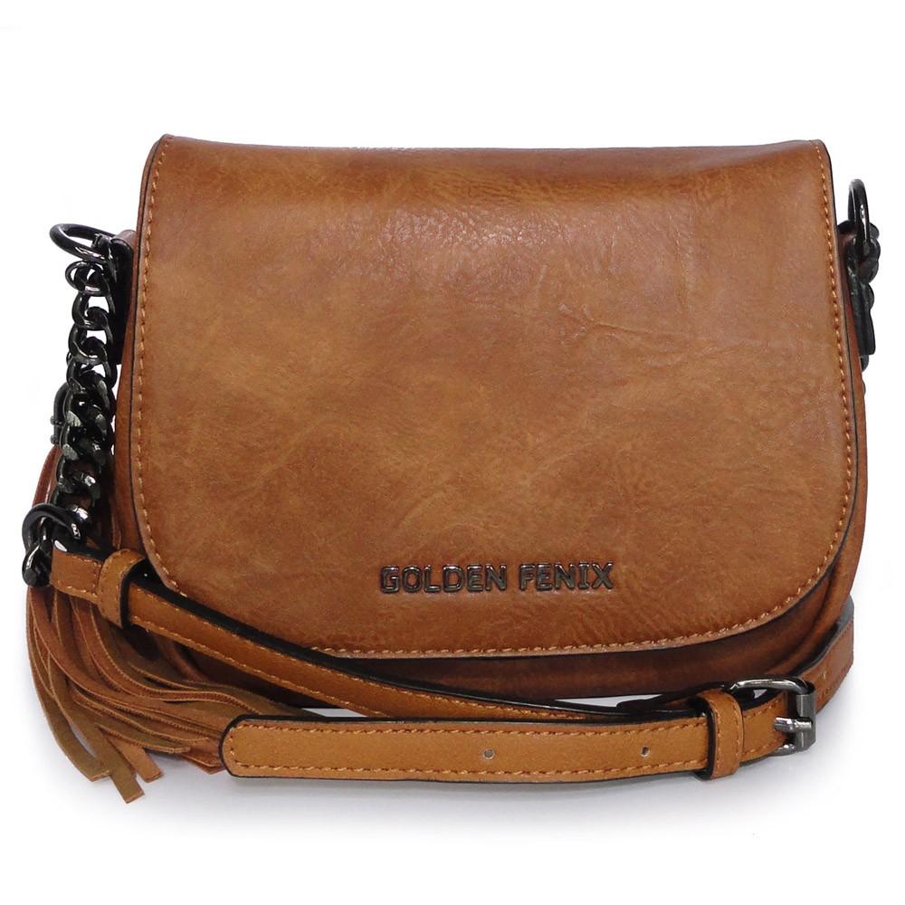 Bolsa Transversal Marrom Golden Fenix B1104643