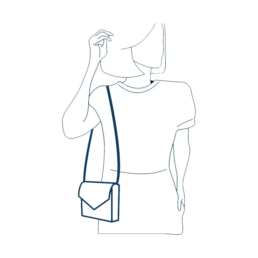 Bolsa Flap Bag Petite Jolie PJ2365 - Záten