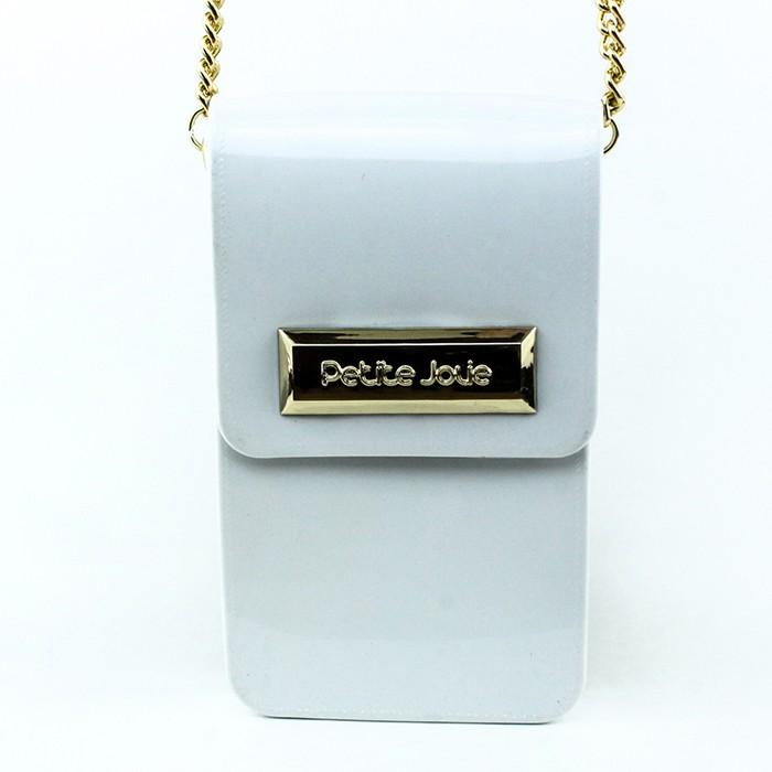 Bolsa Phone Case Branca Petite Jolie PJ1465