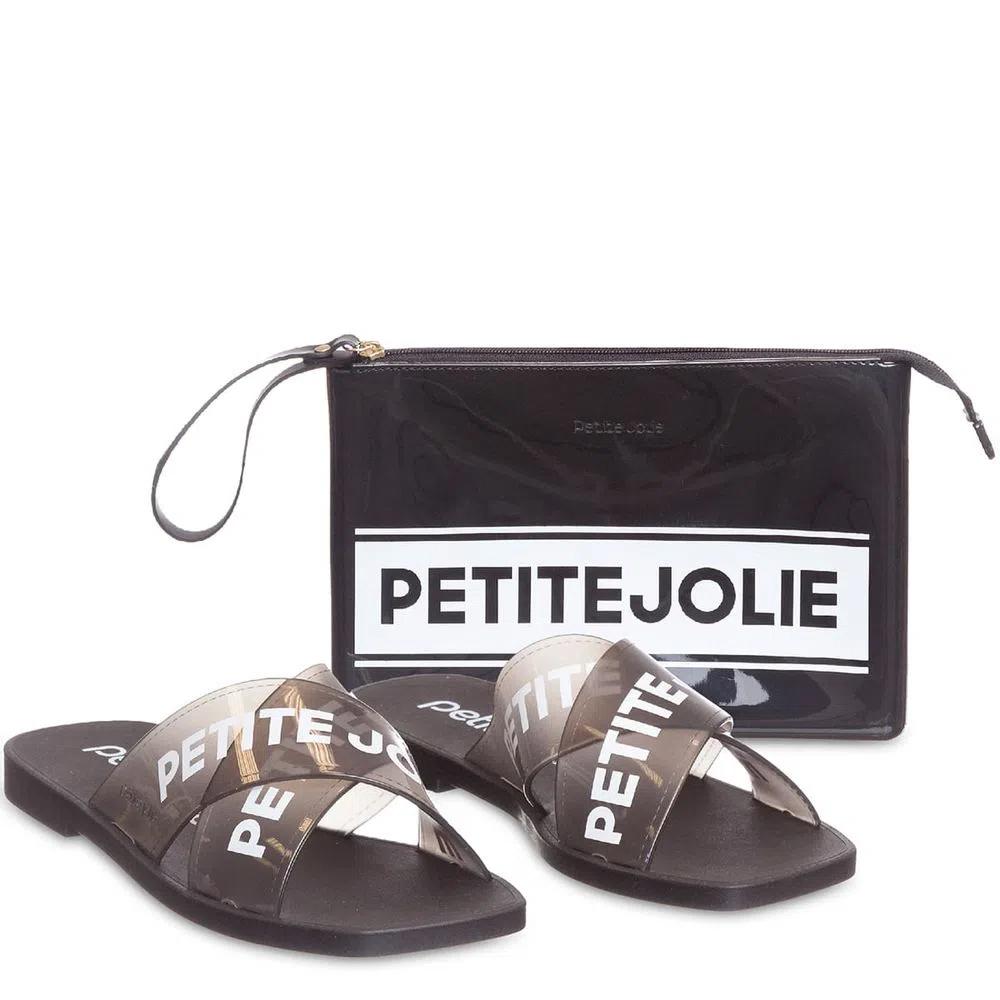 Kit Chinelo Vibe + Necessaire Translúcido Petite Jolie PJ5938 - Záten