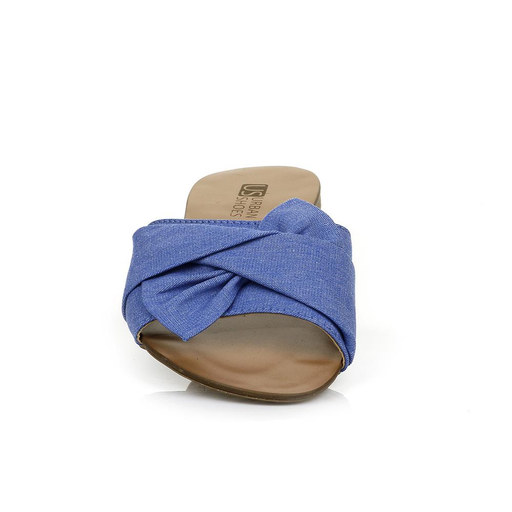 Rasteira Laço Jeans Urban Shoes 740