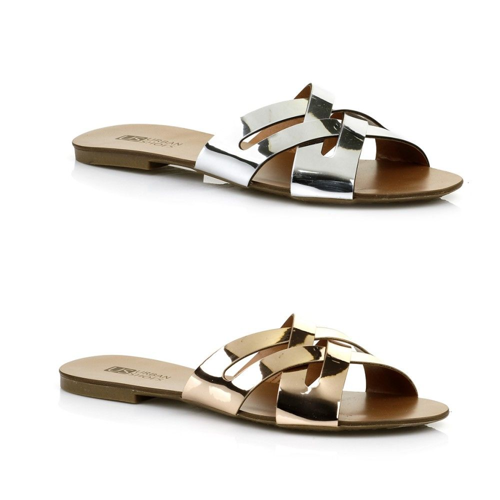 Rasteira Metalizada Urban Shoes 738