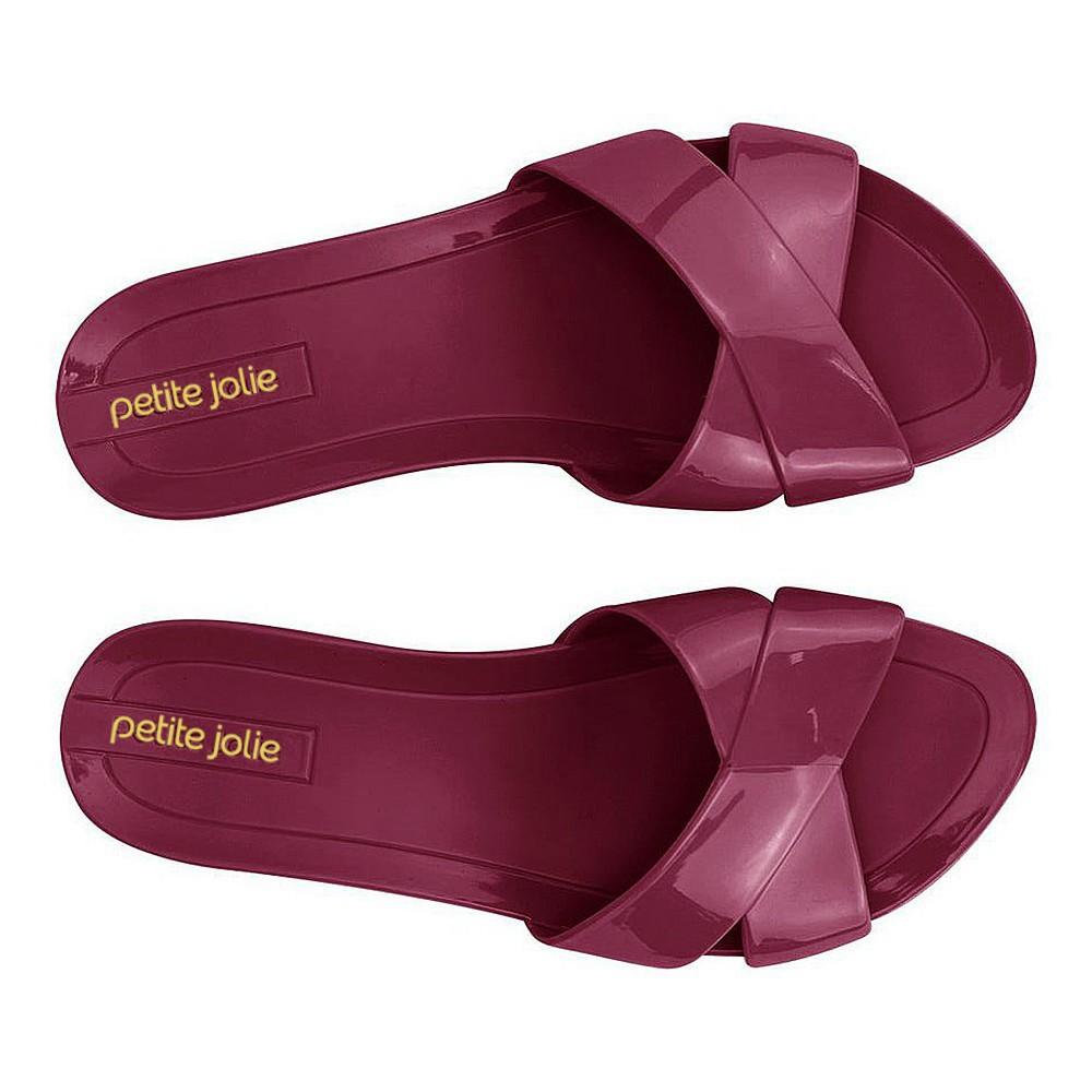 Rasteira Slide Bordo Petite Jolie PJ2605