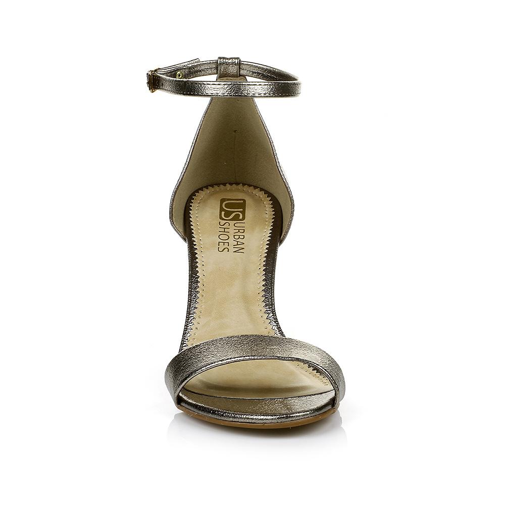 Sandália Salto Baixo Prata Velha Urban Shoes 958.8162