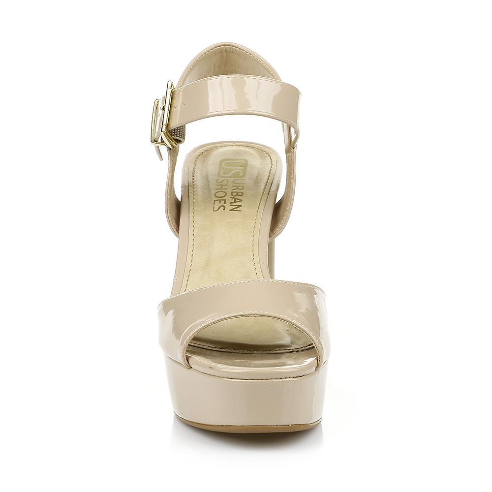 Sandália Salto Bloco Verniz Urban Shoes 915.8220