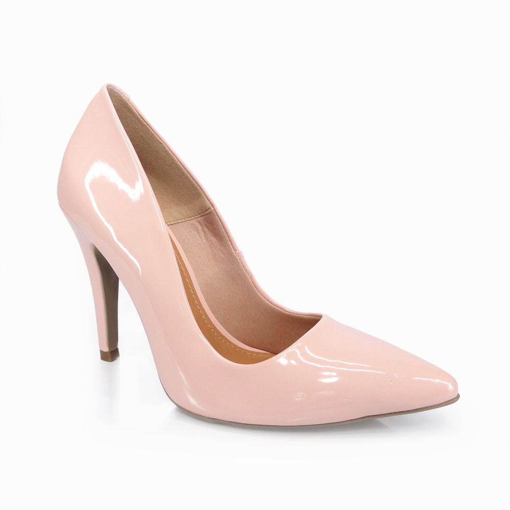 Sapato Scarpin Verniz Rose Offline 5142-20615