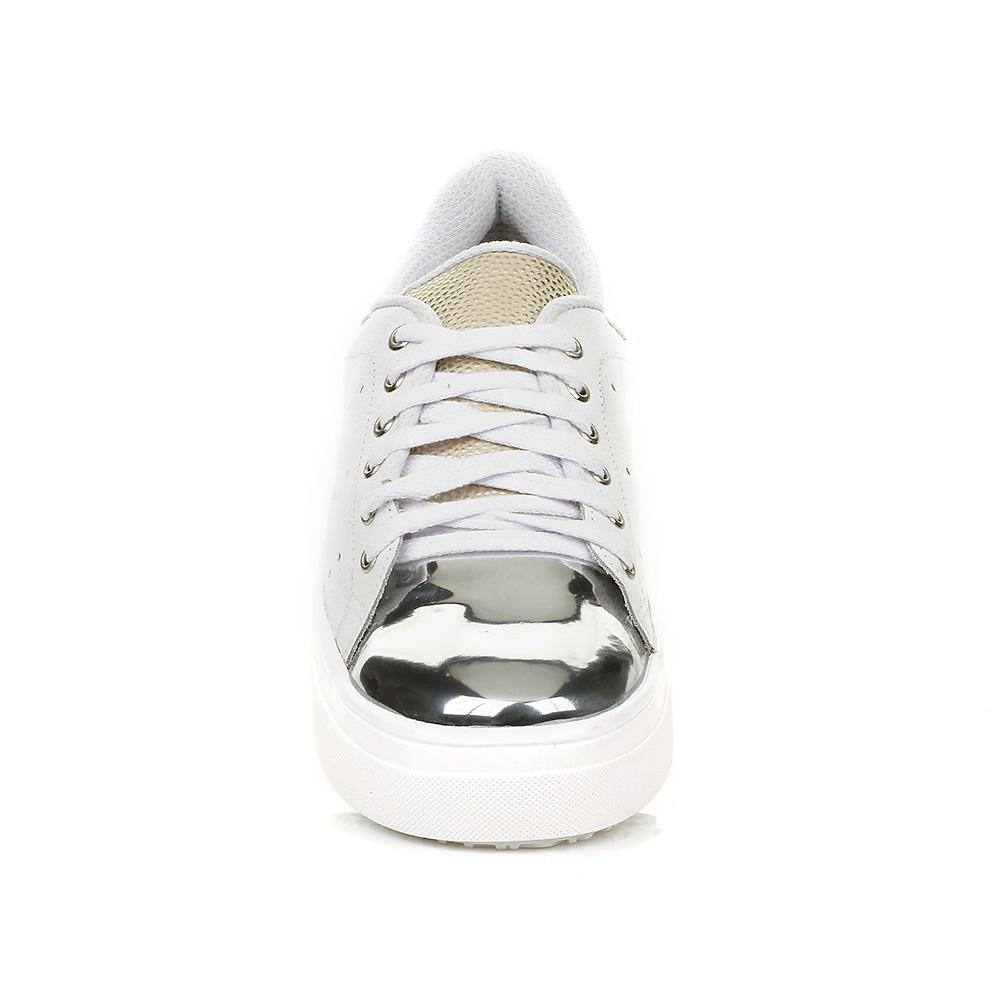 Tênis Casual Branco com detalhe Prata DNA Shoes 40001