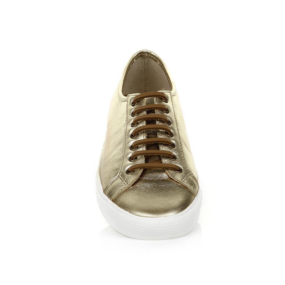 Tênis Casual em Couro Ouro TH Shoes 0092